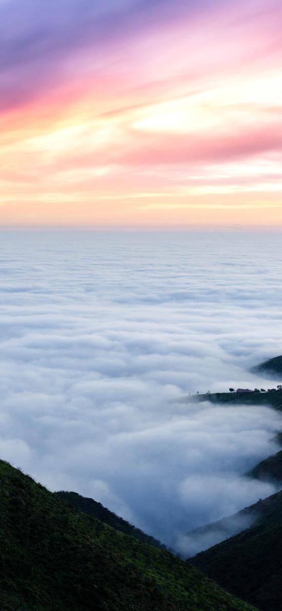 就是 云海 日出 彩霞 云彩