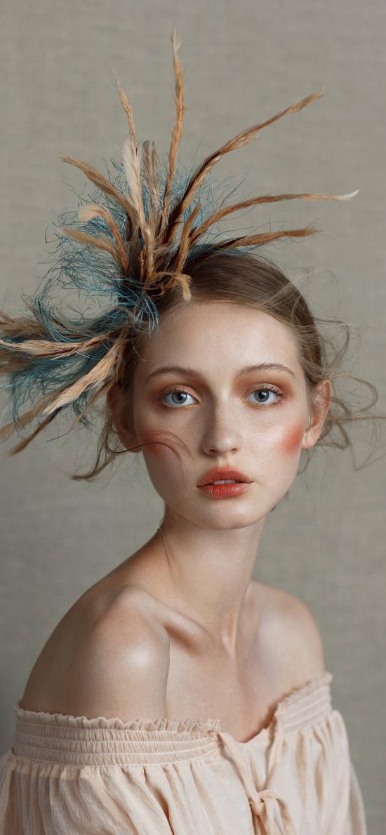 欧美 模特 妆容 创意