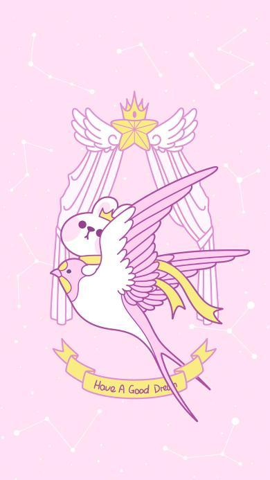 美梦 粉色 兔子 可爱 星座 燕子