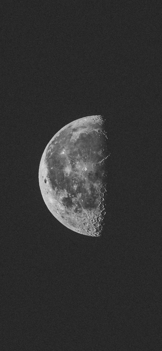 月球 月亮 宇宙 太空 天文 黑白