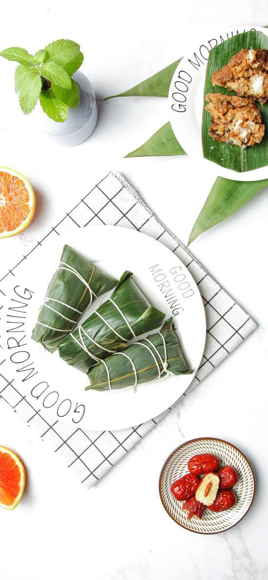 粽子 红枣 端午 肉粽 竹叶 薄荷