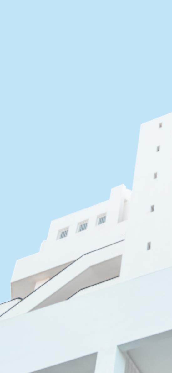 建筑 白色 蓝天 楼房