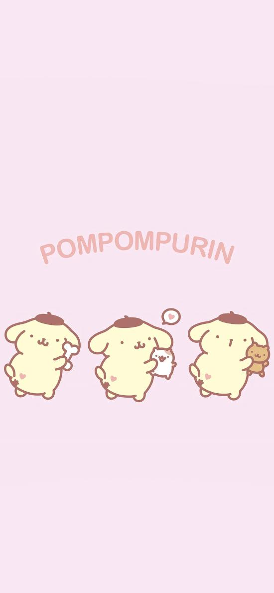 布丁狗 粉色 卡通 可愛 pompompurin