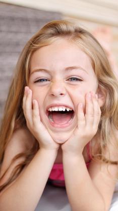 欢乐 大笑 小孩子 儿童 小女孩 欧美