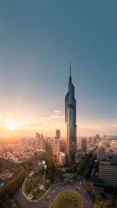 城市 建筑 高楼大厦 道路 都市 繁华