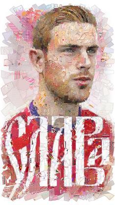 世界杯 足球运动员 创意拼贴 红