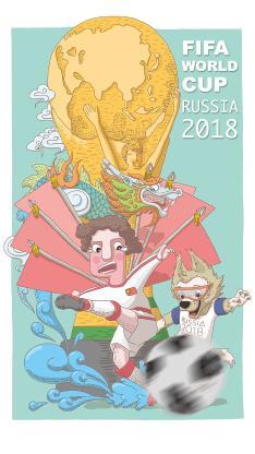 世界杯 插画 足球 吉祥物 2018