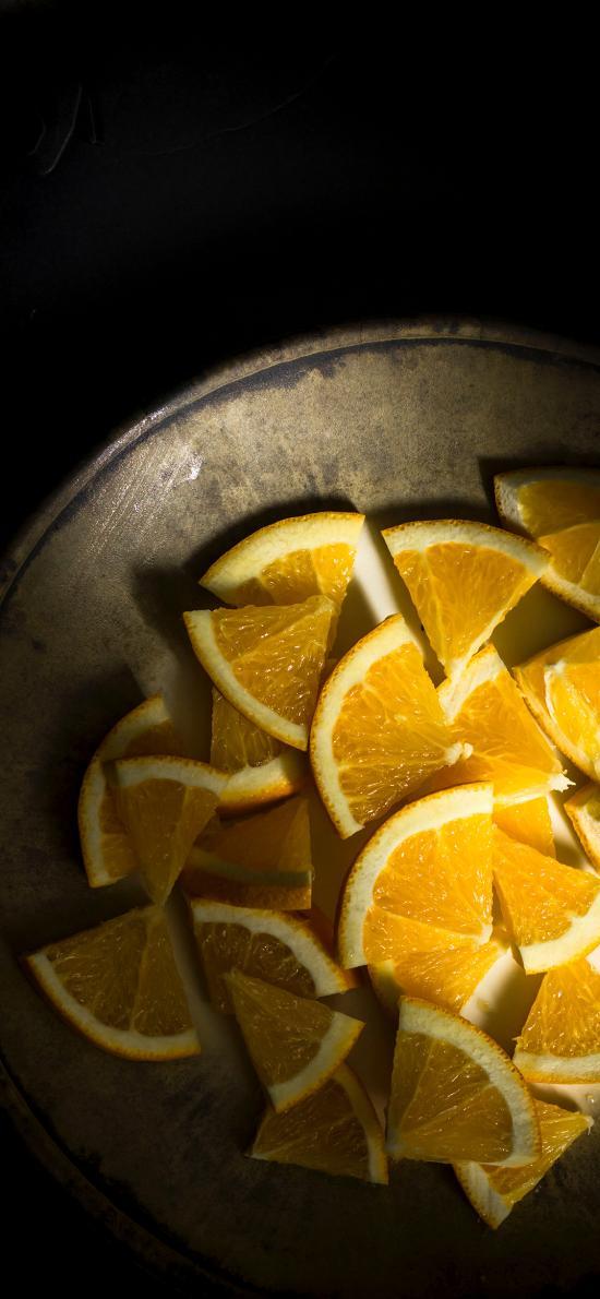 水果 橙 柑橘类 切片