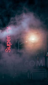 街道 烟雾 灯光 夜晚 店铺