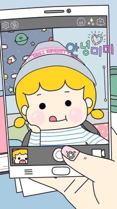 卡通 手绘 女孩 可爱