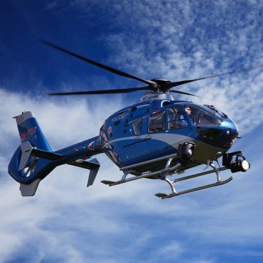 直升机 飞机 航空 飞行  蓝色