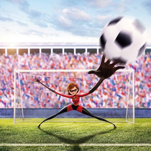 超人总动员 美国 电影 海报 动画 巴荷莉 橡皮女 足球