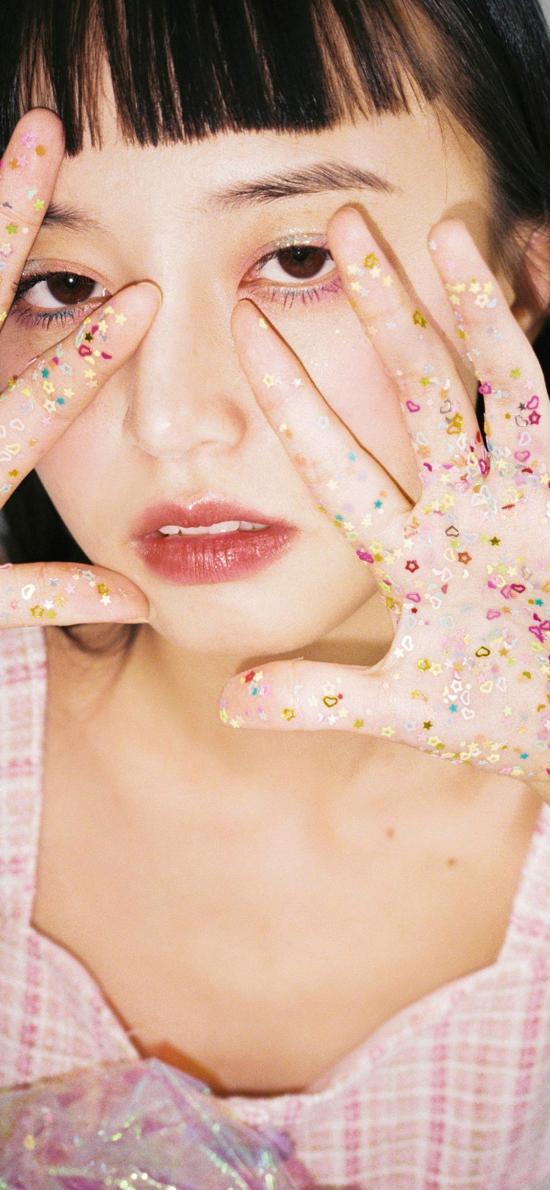 模特 女孩 日系 妆容 写真