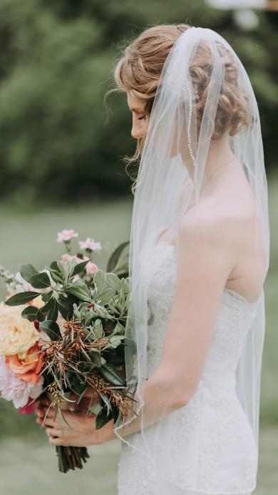 欧美 新娘 写真 花束
