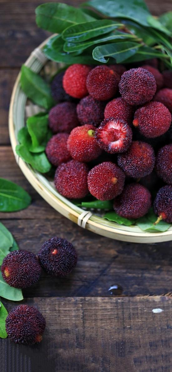 水果 杨梅 绿叶 酸甜