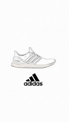 adidas 运动鞋 球鞋 品牌 logo 黑白
