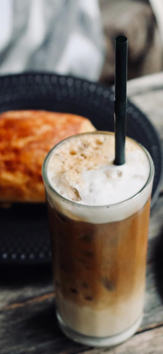 饮品 咖啡 冰块 点心
