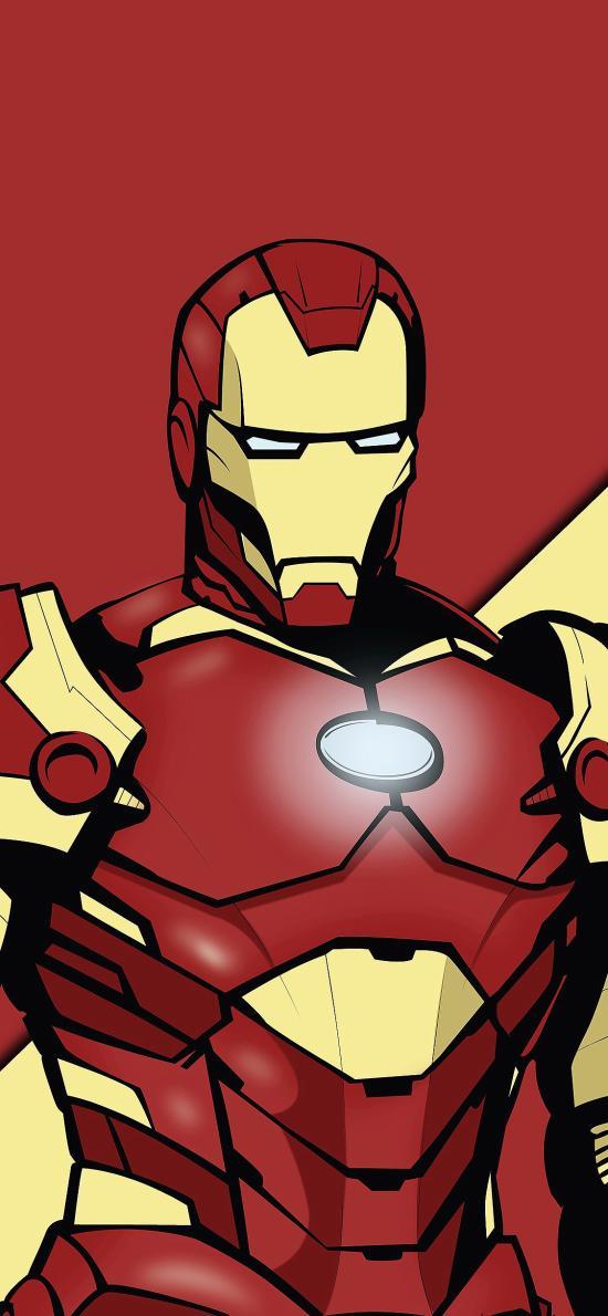鋼鐵俠 歐美 超級英雄 漫威 紅色
