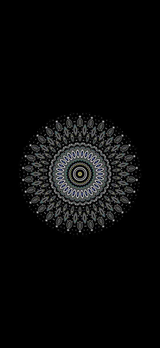 花纹 图案 圆 黑色