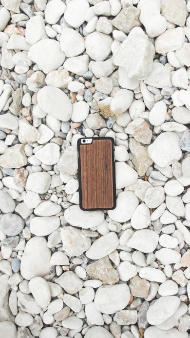 手机 白石 鹅卵石 简约