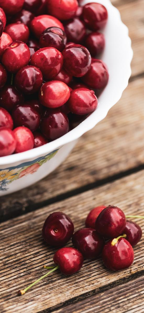 樱桃 车厘子 水果 颗粒 鲜红