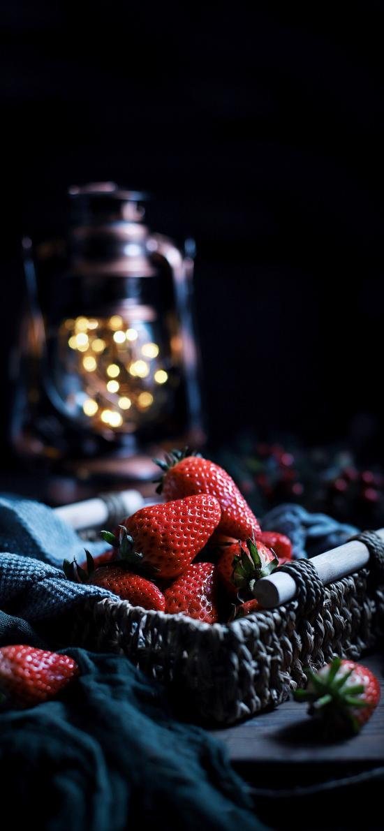 籃子 水果 草莓 香甜