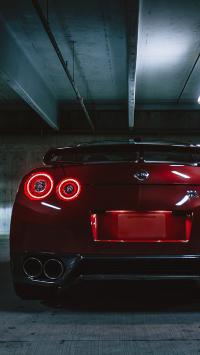 跑车 汽车 尾部 尾灯 排气管