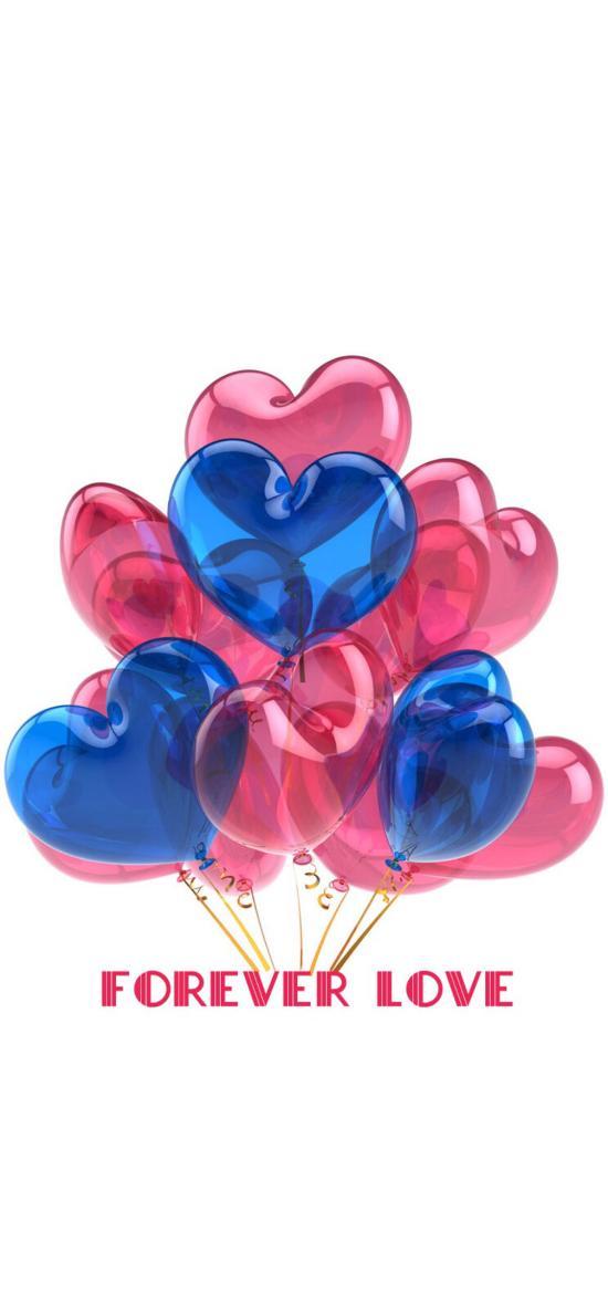 气球 心形 forever love