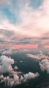 云层 天空 高处 云彩