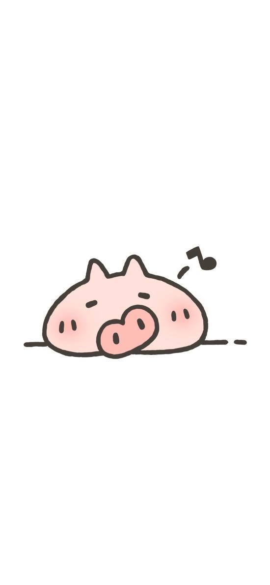 猪 简笔画 可爱 爱情 情侣