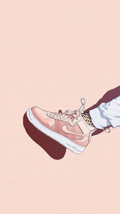 插画 耐克鞋子 Nike