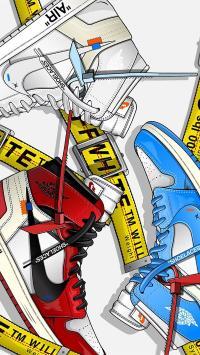 卡通 鞋子 Nike 品牌