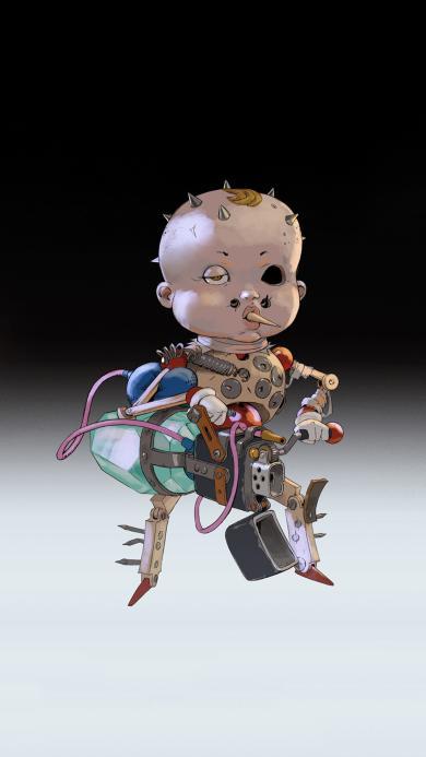 游戏 角色 插画 火机 儿童