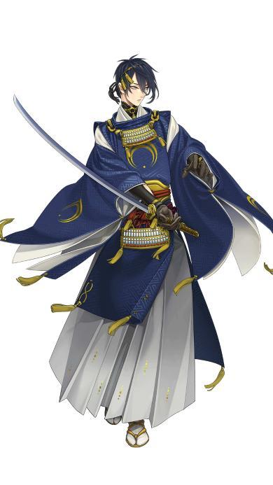刀剑乱舞 手游 日本 三日月宗近 太刀男士 卡牌 策略 战斗 和服