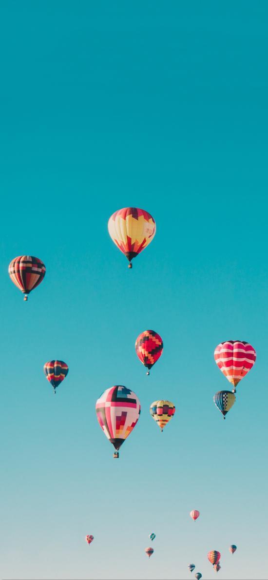 热气球 飞行 天空 色彩