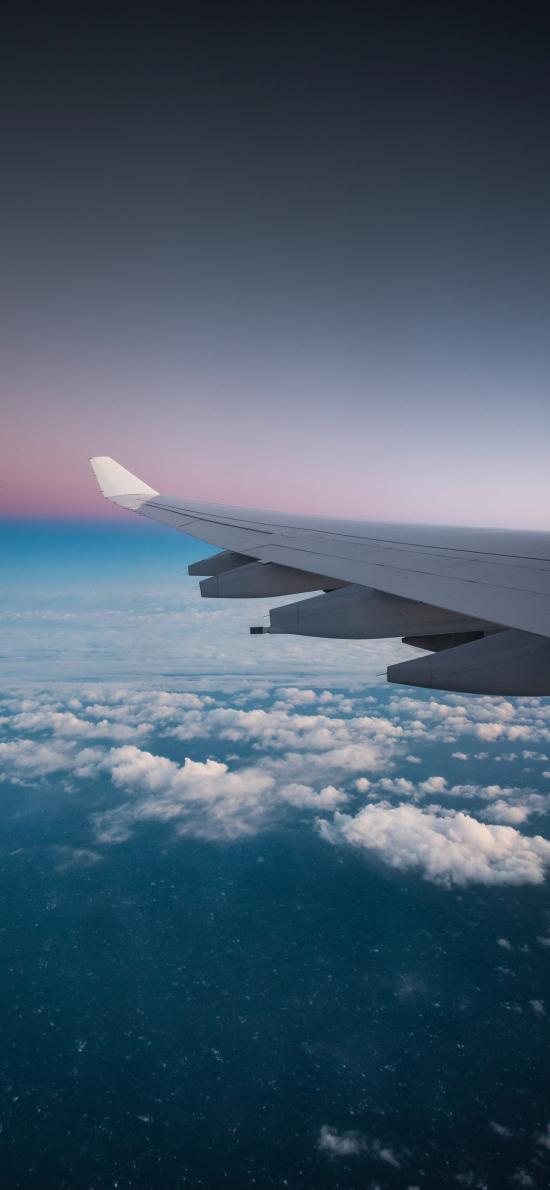 飞机 机翼 高空 云层