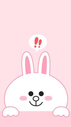 line friends 可妮兔 卡通 可爱 粉色 音符