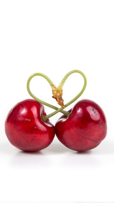 车厘子 水果 樱桃 爱心 新鲜