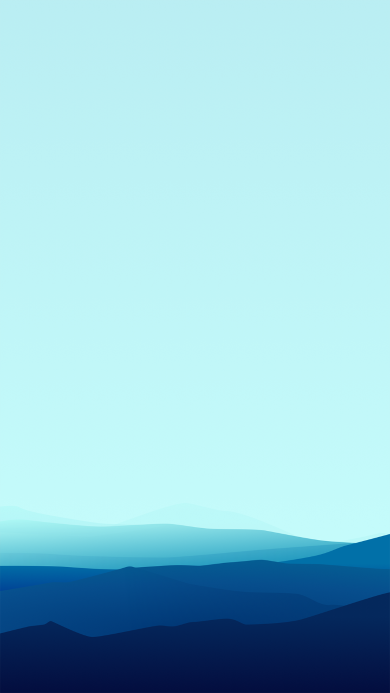 山 蓝色 线条 渐变