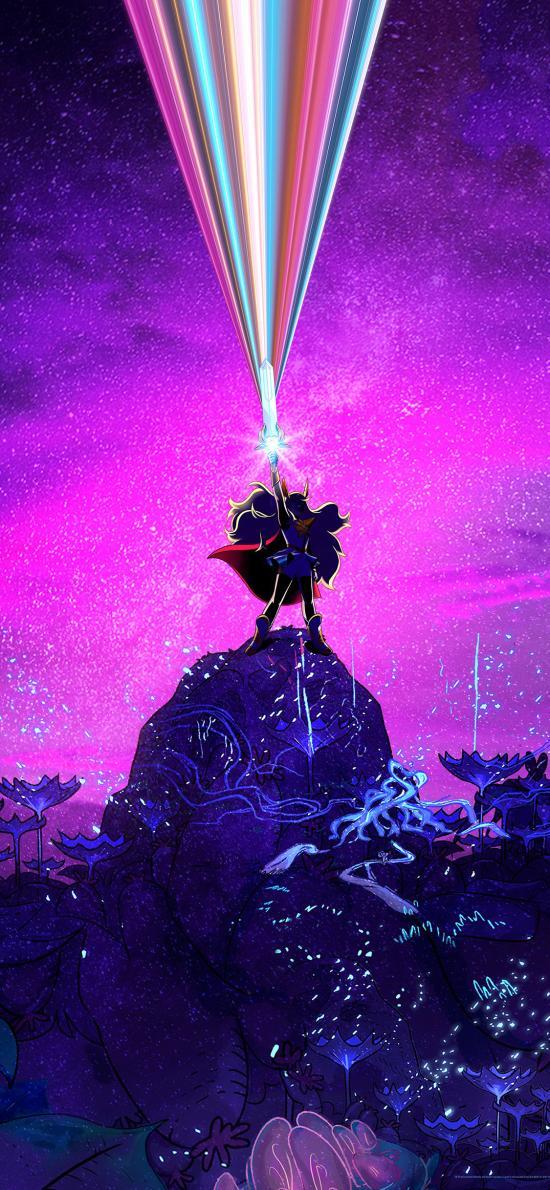 非凡的公主希瑞 动画 欧美 紫色 电影海报