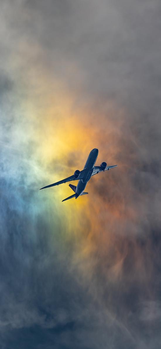 飞机 云彩 彩霞 航空