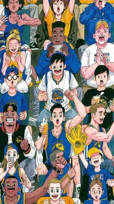 体育 插画 篮球梦 喝彩