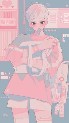 少年 背包 二次元 男孩 时尚
