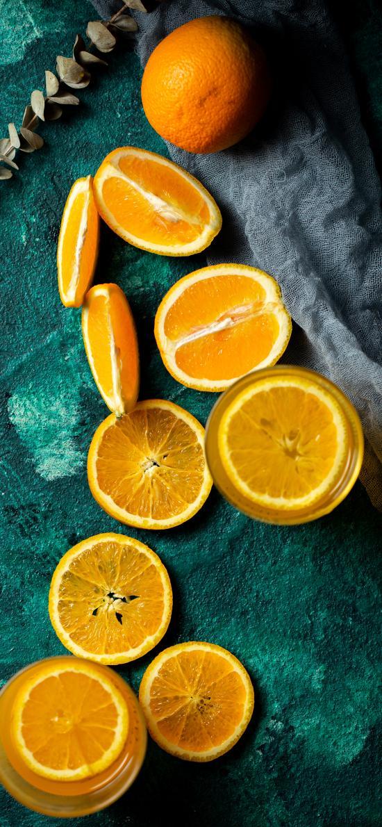 水果 橙汁 切片 营养 维C