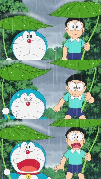哆啦A梦 动画片 漫画 大雄 叮当猫 雨水
