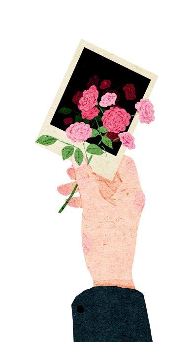 卡片 花 手 礼物 爱情 浪漫