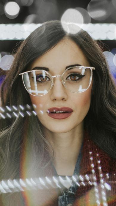 欧美美女 写真 个性 眼镜