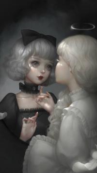 娃娃 插画 BJD 黑暗 哥特式