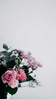 花束 花瓶 鲜花 玫瑰 枝叶
