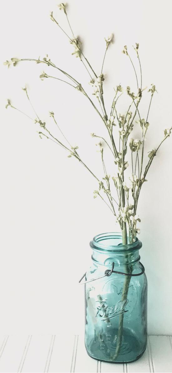 干花 花瓶 玻璃瓶 随意